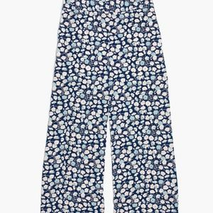 Huston Pull-On Crop Pants in French Floral Sz M